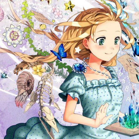 Anime pige der læser