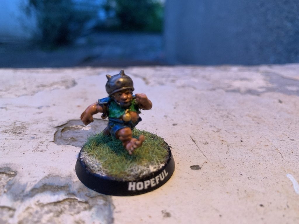 Eaton Oakapple, Halfling Hopeful, Cloverfield Stompers [BloodBowl]