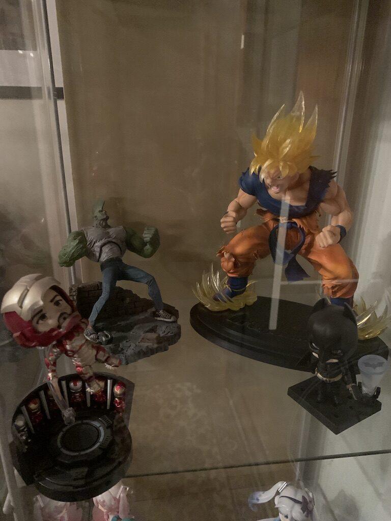 Nendoroid Iron Man, Savage Dragon og Son Goku fra Dragon Ball