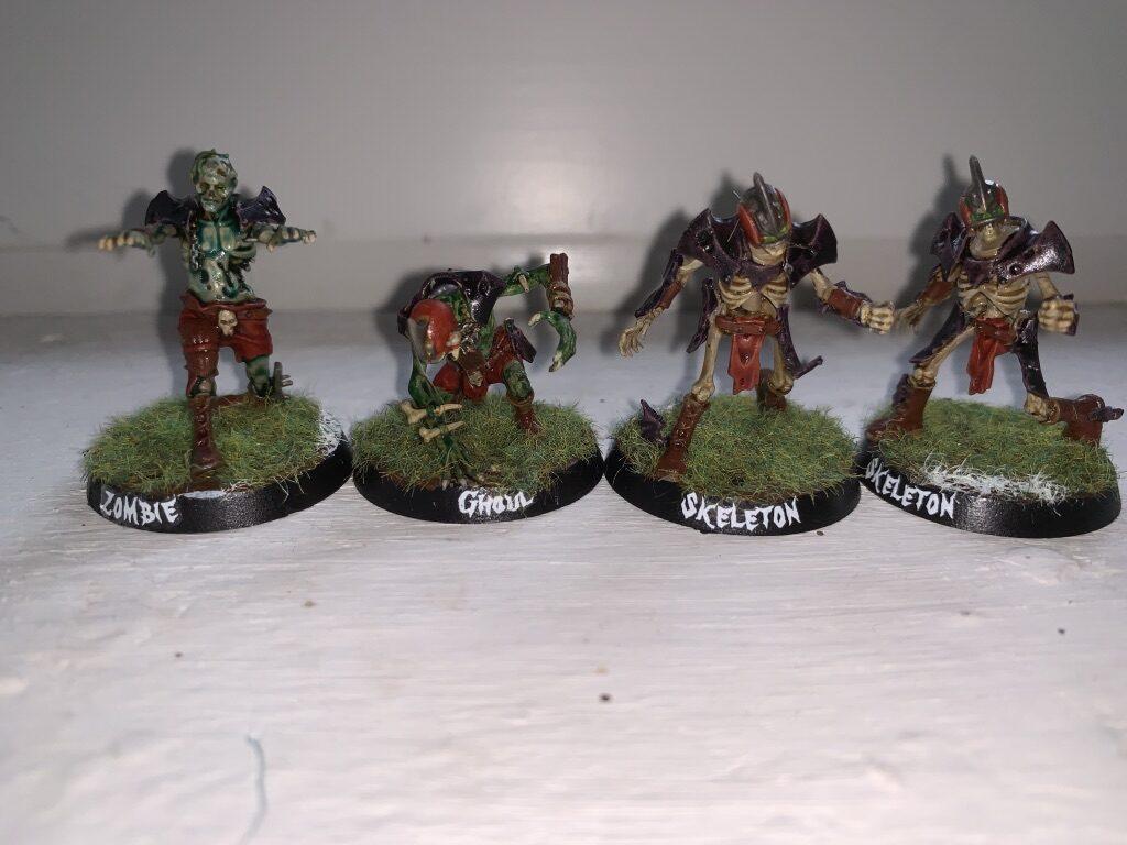 Ghoul, Zombie og Skeletter, Barrichmere Barrowgeists, Shambling Undead [Blood Bowl]
