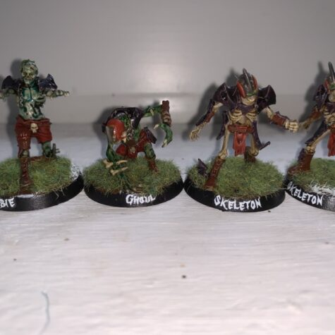 Ghoul, Zombie og Skeletter, Barrichmere Barrowgeists, Shambling Undead [Blood Bowl]