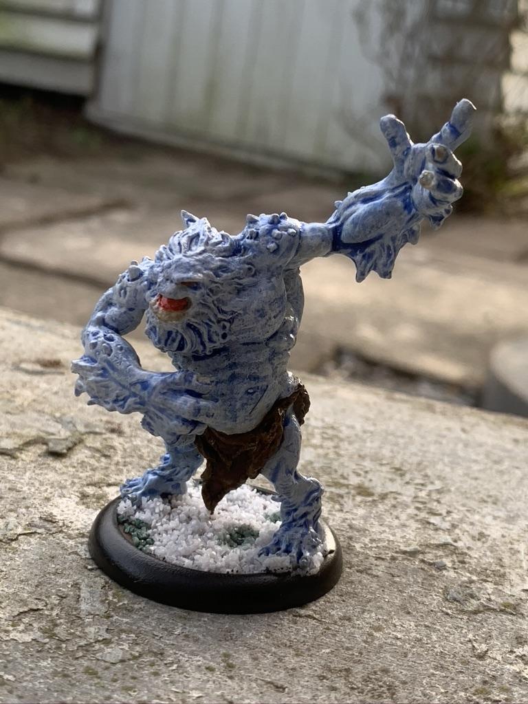 Trollbloods Winter Troll [Hordes]