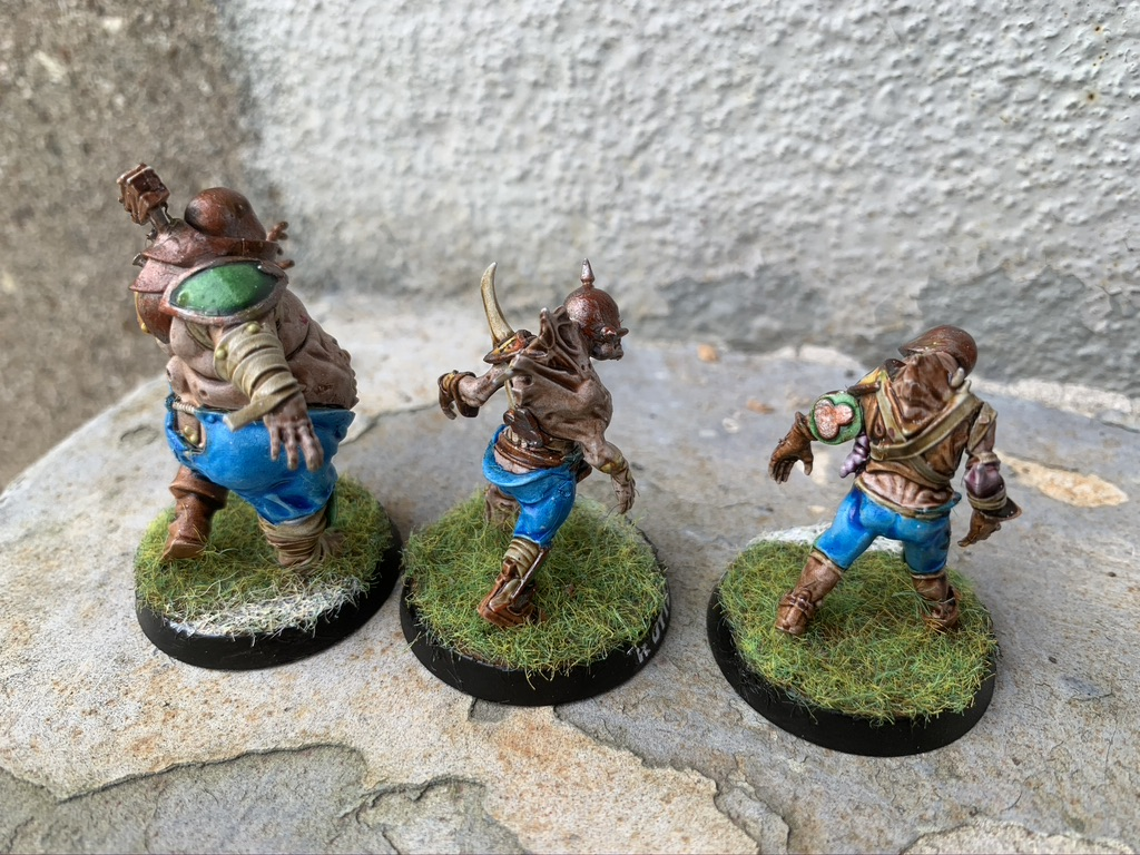Bloater og rotter x2 - Pradeshynya Postules, Nurgle Rotters [Blood Bowl]