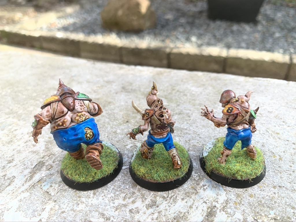 Bloater og rotter x2, Pradeshynya Postules, Nurgle Rotters [Blood Bowl]