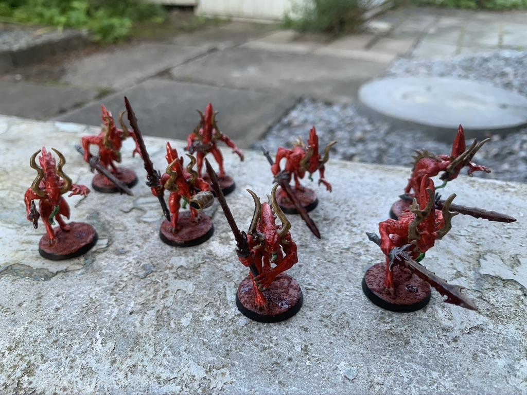 8x Khorne Bloodletters [Warhammer: Fantasy / Warhammer: Age of Sigmar / Warhammer 40.000]